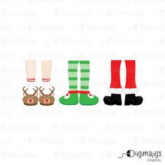 Jolly Feet Clipart Commercial Use Holiday Clipart of by Digimajigs