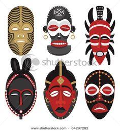 Máscaras Africanas                                                                                                                                                                                 Más