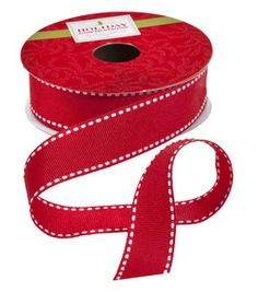 #12Pins product: 9Ft Red & White Ribbon Spool :)