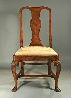 Late Queen Anne / Early George I walnut side chair, English, c. 1710-1720