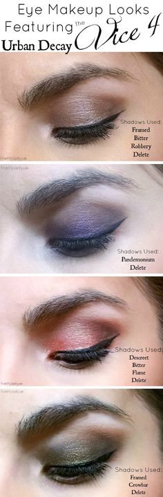 Urban Decay Vice 4 Palette // 4 Vivid Eye Makeup Looks Featuring Vice4 // FromMyVanity.com