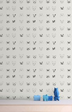 Baines&Fricker cat-patterned wall paper   Remodelista