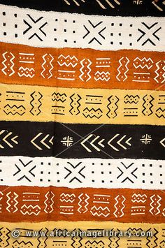 Photos and pictures of: Mud cloth, Centre for National Culture, Accra, Ghana - The Africa Image Library African Textiles, African Fabric, Mayan Symbols, Viking Symbols, Egyptian Symbols, Viking Runes, Ancient Symbols, Aztec Pattern Wallpaper, African Art Projects