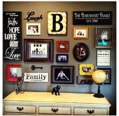 Great picture wall via @HomeGoods but I wanna do it on the bedroom walls, like a…