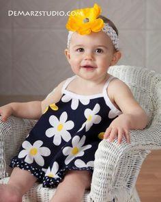 (9) Name: 'Sewing : Ruffled Open Back Baby Pinafore Dress
