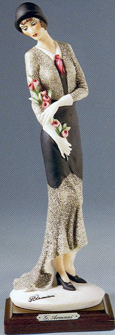 "Armani Figurines Florence Collection | J105-413-CGIUSEPPE ARMANI FLORENCE FIGURINE-""Armani Lady with Flowers ..."
