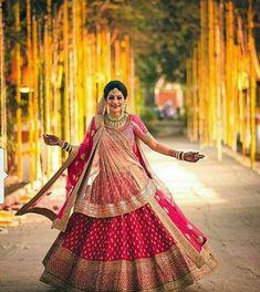 Pink Bridal Lehenga, Bridal Dupatta, Designer Bridal Lehenga, Indian Bridal Lehenga, Indian Bridal Outfits, Indian Bridal Fashion, Indian Bridal Wear, Pink Lehenga, Lehenga Choli