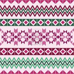 Géométrique motif abstrait avec des motifs ethniques