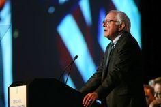 Senator Bernie Sanders addressing the Democratic National Committee on Friday in Minneapolis.