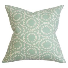 Add contemporary appeal to your study or lounge with this cotton cushion, featuring a geometric design and down feather fill. Display alone for a focal point...