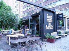 """Look Mum No Hands"" - London's prominent bike cafe (Exterior)"