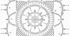 lacy granny square   tığ motif   Pinterest   Crochet Squares, Squares and Granny Squares