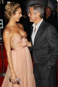 Stacey Keibler and George Clooney Braided Bun Hairstyles, Pretty Hairstyles, Wedding Hairstyles, Braided Updo, Bun Braid, Braid Headband, Updo Hairstyle, Wedding Updo, George Clooney