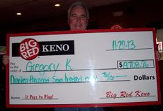Gregory won $19,708.76 playing Big Red Keno in OMAHA!