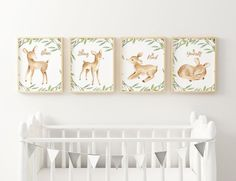 Printable Nursery Poster - Set of 4 - Baby Deer Neutral - Be Kind, Be Strong, Be Yourself and Be Brave Deer Art, Baby Deer, Safari Animals, Nursery Neutral, Frame It, Gender Neutral, Etsy Store, Brave, Elephant
