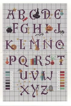 ABC Harry Potter - counted crossstitch or fuse beads