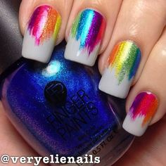 33 Best Rainbow Pride Lgbt Nails Images In 2016 My Nails Rainbow