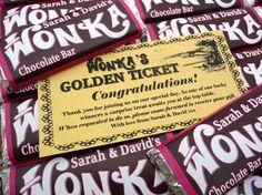 Wonka Wedding Favours