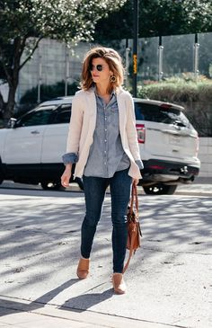 How To Wear a Denim Shirt // 13+ Ways to Style Chambray