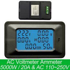 AC 5KW 85~250V Digital Voltage Meters indicator Power Energy Voltmeter Ammeter current Amps Volt wattmeter tester detector  Price: 11.04 USD