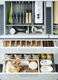Ikea kitchen organization.