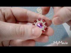 Iris Turquoise Three Petal Ring with Diamond Accent Yellow Gold Handmade Jewelry - Custom Jewelry Ideas Diy Jewelry, Beaded Jewelry, Handmade Jewelry, Jewelry Design, Jewellery, Jewelry Making Tutorials, Beading Tutorials, Beaded Rings, Bead Art
