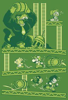 'Dragon Kong Ball' Poster by gameboylands Dbz, All Mario Games, Memes, Green Wallpaper, Video Game Art, Cultura Pop, Manga, Geek Culture, Anime Comics