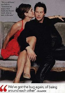 Keanu Reeves and Sandra Bullock--love these two together!