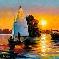 Sunset - http://leonidafremov.deviantart.com/
