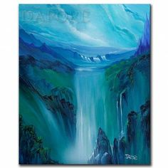 Art: landscape448mountain waterfalls by Artist Theo Dapore