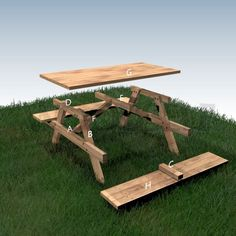 Your plans - Woodself - Free plans for woodworking Outdoor Couch, Diy Outdoor Furniture, Diy Pallet Furniture, Diy Pallet Projects, Garden Furniture, Wood Projects, Furniture Design, Diy Picnic Table, Picnic Table Plans
