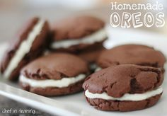Homemade Oreos made with Duncan Hines Chocolate Cake mix by Chef-In-Training.