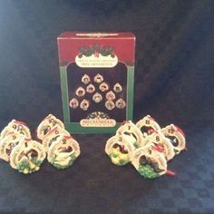 1992 Breckenridge Holidays 12 Days Of Christmas Bisque Ceramic Tree Ornaments #BreckenRidge