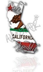 Cali Republic State Bear Sticker