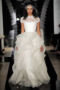 """To each her own I guess.. some are really pretty but with most of them I just thought """"WTF!"""" ;-) Top Wedding Dress Trends Spring 2014 Bridal Market"""