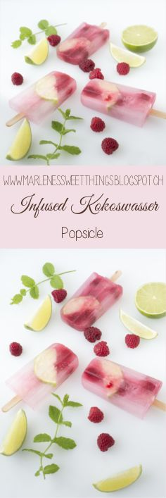 Infused Kokoswasser Popsicle - Infused cocoswater Popsicle