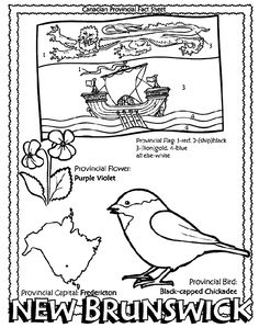 Canadian Province - New Brunswick coloring page New Brunswick Flag, New Brunswick Canada, Canadian Provincial Flags, Geography Of Canada, Quebec, All About Canada, Voyage Canada, Ontario Curriculum, Flag Coloring Pages