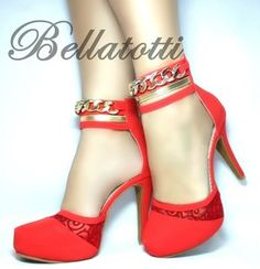 Scarpin Bellatotti Link Rosso