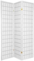 Window pane patter shoji screen room divider available in more panels and in white,black, walnut, honey, rosewood