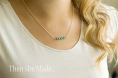 Nice necklace to make yourself. YW leaders could make in values colors.  Then she made...: DIY Simple Necklace Tutorial