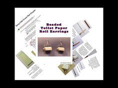 BEADED Toilet Paper Earring Tutorial  Instant by Violetbead