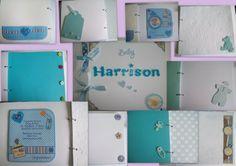 Handmade New Baby or Christening Gift Keepsake Album - A4 £20 #CRAFTfest