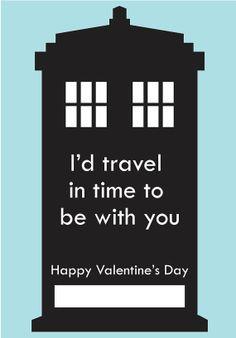 Dr Who Valentine  DIY 5 x 35 Printable Valentine by NuttMegDesigns, $1.00