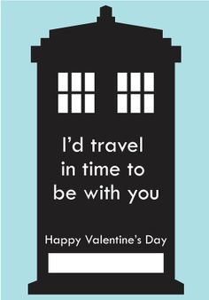 DIY Printable - Dr. Who Valentine!