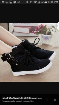 3729aaddec65 Womens Casual Fashion High Top Lace Up Round Toe Buckle Decor Flats Shoes