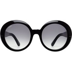 Tod's Oversize Sunglasses (1,110 ILS) ❤ liked on Polyvore featuring accessories, eyewear, sunglasses, fave eyewear, black, retro sunglasses, oversized eyewear, rounded glasses, tods glasses and oversized glasses