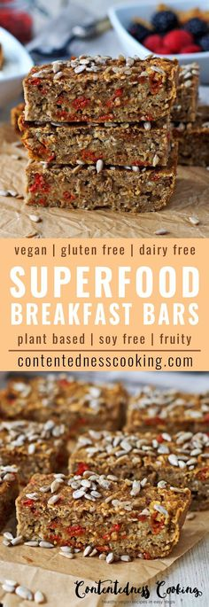 My Vegan Superfood Breakfast Bars will be your healthy start to the day. They are packed with superfood energy from mulberries and goji berries, oil-free, and with only natural sweetness.