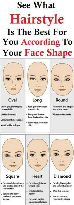 Your face shape expect the best part in finding the perfect hairdo for you. Here are a couple tips for you to see how to find the best hairdo for you. You will see for each face shape which haircut… Types Of Faces Shapes, Long Face Shapes, Eye Shapes, Haircuts For Long Hair, Cool Haircuts, Cool Hairstyles, Round Face Haircuts Long, Hairstyles 2018, Wedding Hairstyles