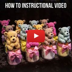 Sewing Teddy Bear washcloth teddy bear, washcloth polar bear, washagami bear, washcloth bear - You will love to learn how to make a washcloth teddy bear and it makes the perfect baby shower gift. Be sure to watch the video tutorial too. Baby Shower Crafts, Baby Crafts, Baby Shower Decorations, Baby Teddy Bear, Polar Bear, Teddy Bears, Baby Gifts To Make, Towel Animals, How To Fold Towels