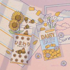 Aesthetic Drawing, Aesthetic Art, Aesthetic Anime, Arte Do Kawaii, Kawaii Art, Cute Cartoon Wallpapers, Animes Wallpapers, Aesthetic Pastel Wallpaper, Aesthetic Wallpapers